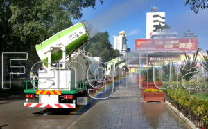 Three multiple-functional dust-suppression vehicles are newly increased in Pingliang central urban area